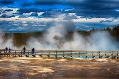 Parco nazionale di Yellowstone del geyser Immagini Stock Libere da Diritti