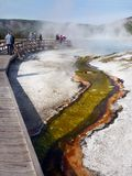 Parco nazionale di Yellowstone, Volcano Geysers Hot Springs Immagine Stock