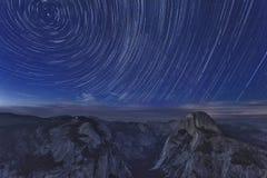 Parco nazionale di Yosemite alla notte Fotografia Stock