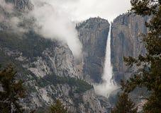 Parco nazionale di Yosemite nell'inverno vicino al capitale di EL, alle cadute di Bridalveil, alla mezza cupola ed alla valle spl fotografia stock libera da diritti