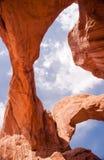 Parco nazionale drammatico dell'Utah di formazioni rocciose del paesaggio Immagine Stock