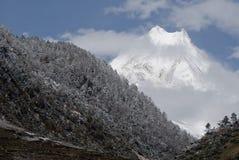 Parco nazionale himalayano piacevole Manaslu Nepal Fotografia Stock