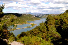 Parco nazionale Krka in Croazia Fotografie Stock
