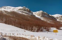 Parco nazionale Lovcen nell'inverno Fotografia Stock Libera da Diritti