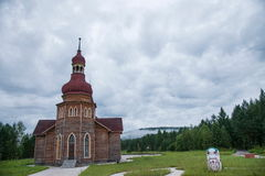 Parco nazionale a nord del Natale artico del villaggio del villaggio artico di Mohe a St Petersburg Antivari Immagini Stock Libere da Diritti