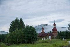 Parco nazionale a nord del Natale artico del villaggio del villaggio artico di Mohe a St Petersburg Antivari Immagine Stock Libera da Diritti