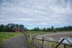 Parco nazionale a nord della scultura artica di Natale del villaggio del villaggio artico di Mohe Immagini Stock Libere da Diritti