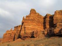 Parco nazionale rosso di Charyn del canyon (Sharyn) Immagine Stock