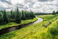 Parco nazionale Sumava - ardesia di Modravske Fotografie Stock