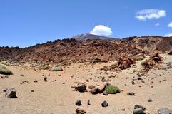 Parco nazionale Teide su Tenerife Fotografie Stock Libere da Diritti