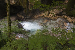 Parco nazionale Tscheppaschlucht, Carinzia, Austria Fotografia Stock