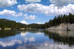 Parco nazionale Wyoming U.S.A. del fiume Yellowstone, Yellowstone Fotografia Stock