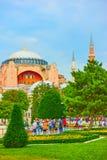 Parco nel quadrato di Sultanahmet a Costantinopoli Immagine Stock
