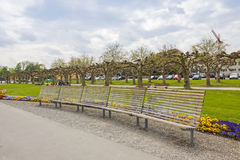 Parco nella città di Kreuzlingen, Svizzera immagini stock