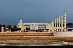 Parco olimpico Montjuic, Barcellona, Spagna Immagine Stock Libera da Diritti