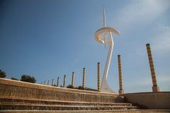 Parco olimpico Montjuic, Barcellona, Spagna Immagini Stock Libere da Diritti