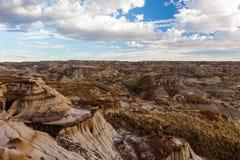 Parco provinciale del dinosauro - Alberta, Canada fotografie stock