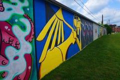 Parco pubblico dei graffiti Fotografie Stock