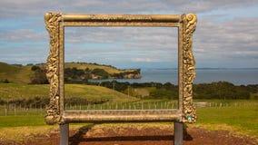 Parco regionale Nuova Zelanda di Shakespear Fotografia Stock
