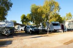 Parco ricreativo del caravan fotografie stock libere da diritti