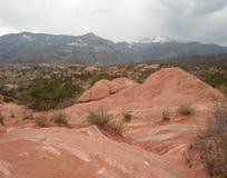 Parco rosso del canyon in Colorado Immagini Stock