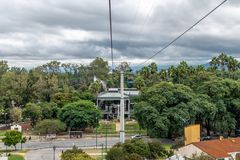 Parco San Martin e Cerro San Bernardo Cable Car - Salta, Argentina fotografie stock libere da diritti