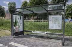 Parco scientifico della fermata dell'autobus Aqua At Amsterdam The Netherlands 2018 immagini stock