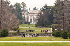Parco Sempione stockfoto