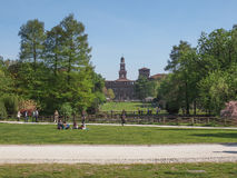 Parco Sempione in Milan Stock Image