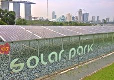 Parco solare - diga del porticciolo, Singapore Fotografie Stock Libere da Diritti