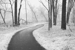 Parco sotto una prima neve Immagini Stock Libere da Diritti