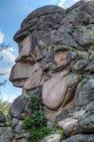 Parco Stolby del paesaggio, vicino a Krasnojarsk fotografie stock