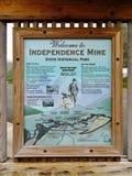 Parco storico dello stato della miniera di indipendenza, Alaska Immagini Stock