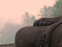 Parco storico di Borobudur, vicino a Jogjakarta fotografie stock