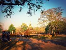 Parco storico di Sisatchanalai Immagini Stock