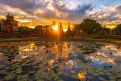 Parco storico di Sukhothai, la vecchia città della Tailandia durante 800 anni fa in Sukhothai regno di Thailandia Immagini Stock Libere da Diritti