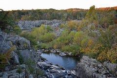Parco storico nazionale del canale di C&O, Great Falls, Maryland Fotografia Stock