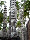 Parco storico nazionale di Puuhonua o Honaunau fotografia stock libera da diritti