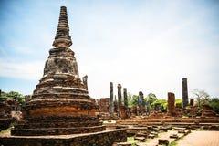 Parco storico, si Ayutthaya, Tailandia di Phra Nakhon Immagini Stock