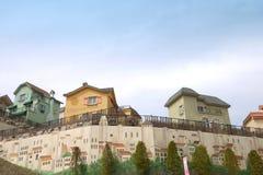Parco a tema dello svizzero dell'edelweiss Immagine Stock
