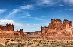Parco tribale navajo della valle del monumento in America durante l'estate immagine stock libera da diritti