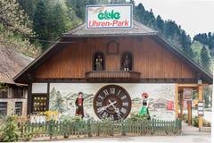 Parco Triberg Germania di Uhren Fotografia Stock Libera da Diritti