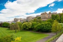 Parco urbano a Edimburgo Fotografia Stock Libera da Diritti