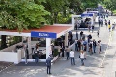 Parco Valentino - под открытым небом выставка автомобиля в Турине - второе издание 2016 стоковая фотография