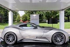 Parco Valentino - под открытым небом выставка автомобиля в Турине - второе издание 2016 стоковое фото rf
