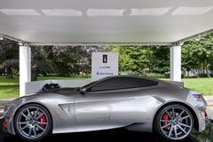 Parco Valentino - под открытым небом выставка автомобиля в Турине - второе издание 2016 стоковые изображения rf