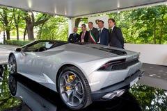 Parco Valentino - Car Show del aire abierto en Turín - segunda edición 2016 Foto de archivo