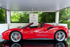 Parco Valentino - Open Air Car Show in Turin - Second edition 2016. Ferrari 488 spider. Open Air Car Show in Turin - Second edition 2016 stock photo