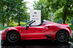 Parco Valentino - Open Air Car Show in Turin - Second edition 2016. The second edition of the new open air Car Show in Turin has taken place from June, 8th to royalty free stock image