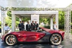 Parco Valentino - Salone & Gran Premio - Car Show dell'aria aperta a Torino Fotografia Stock